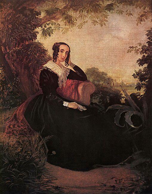 JOHANN MORITZ RUGENDAS-Maria Sanchez de Mendeville-1845