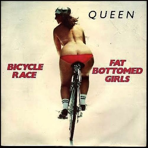 Queen Bicycle Race & Fat Bottomed Girls -- I love Queen - Now I'll just turn on an album of them.