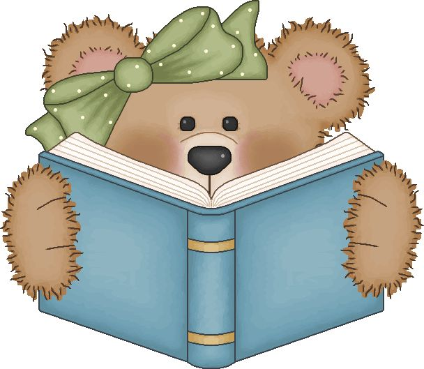 Pin By Alma Morales On Craft Clipart Bear Clip Art Christmas Reading Book Clip Art
