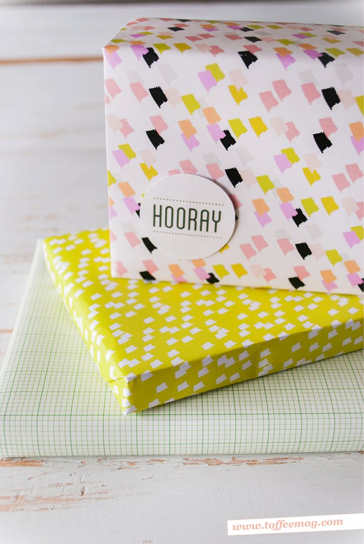 Printable gift wrap, tags and more free things inside the Toffee Magazine