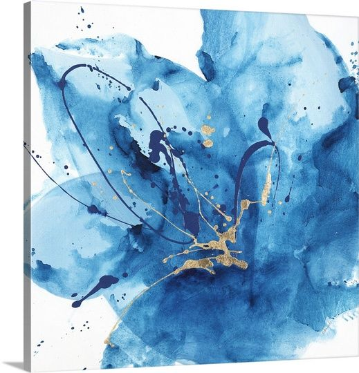 Big Canvas Art Modern Watercolor Abstract Ink Splash Big: Best 25+ Blue Abstract Painting Ideas On Pinterest