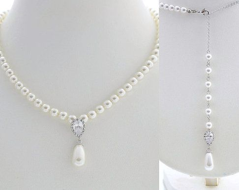 Aria Back Drop Pearl Necklace