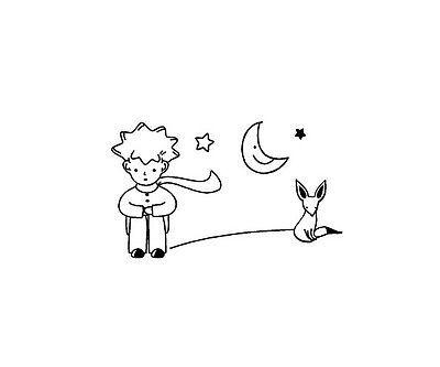 The Little Prince Fox Moon Star Decor Mural Art Vinyl Wall Sticker Decal