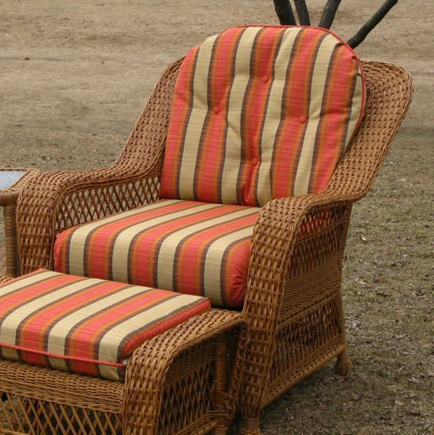 Wicker Furniture Cushions Outdoor, Round Back Outdoor Chair Pads