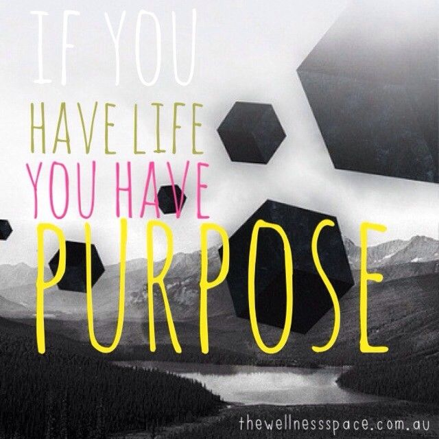 We all have a purpose in life