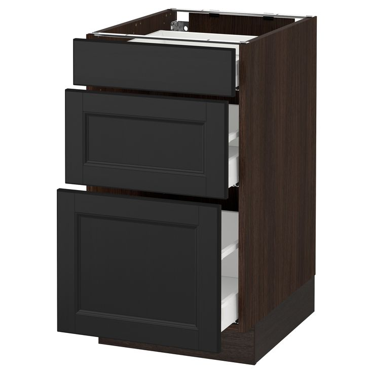IKEA - SEKTION wood effect brown Base cabinet with 3 drawers Frame