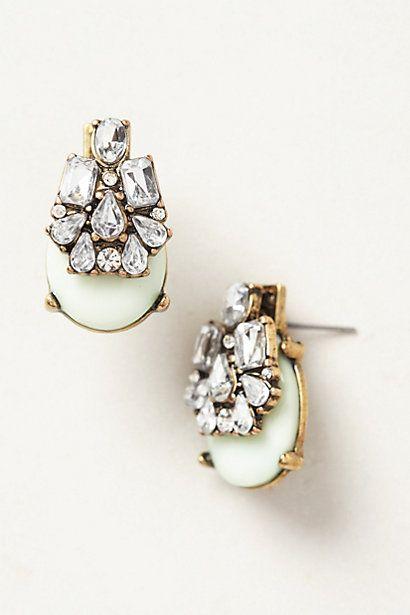 seastone Earrings #anthrofav #greigedesign