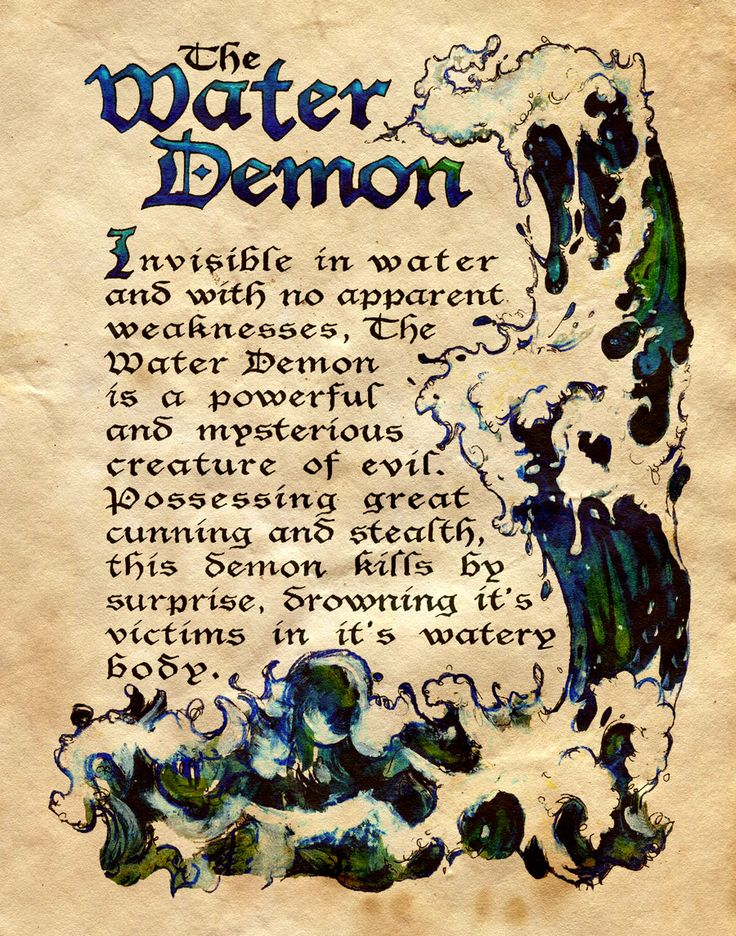 """Book of Shadows:  """"The Water Demon,"""" by Charmed-BOS, at deviantART."""