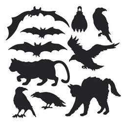 Cutouts for halloween crafts.