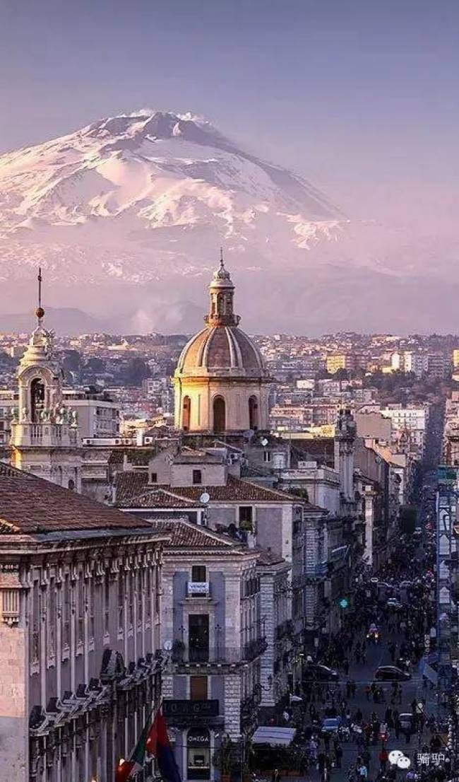 Awesome view of Catania and Mount Etna, Sicily, #Italy.