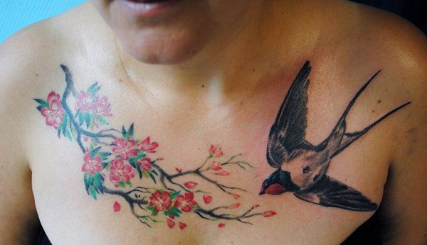 Swallow tattoo - 50 Lovely Swallow Tattoos  <3 <3
