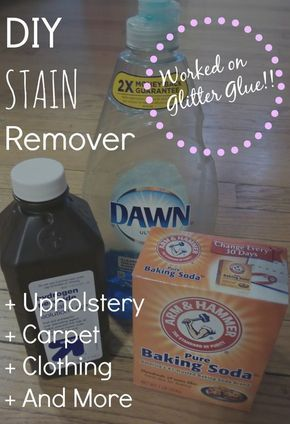 DIY: Upholstery Cleaner/Stain Remover. Worked on glitter glue!!!