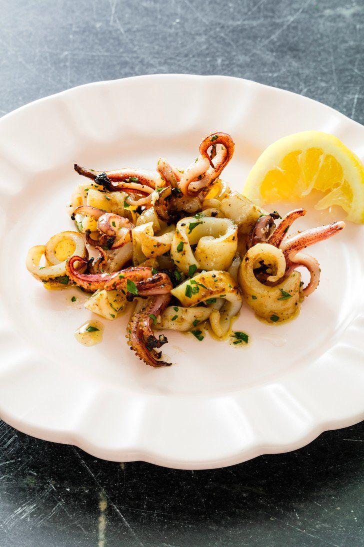 Grilled Calamari Rings With Lemon Butter