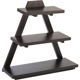 Jewellery display ideas from a restaurant supply company - APS Triangle Wooden Buffet Stand Black