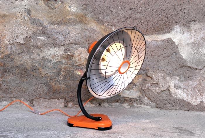 Lampe radiateur relookée