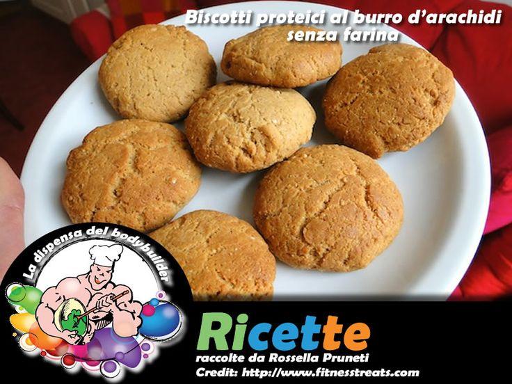 Biscotti proteici al burro d'arachidi, senza farina