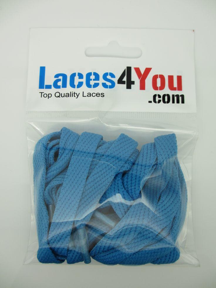Flat Blue 10mm Laces.