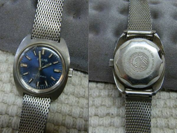 美品本物エニカ 手巻き女性腕時計 スイス製 アンティーク素敵 Watch enicar ¥8000yen 〆04月18日