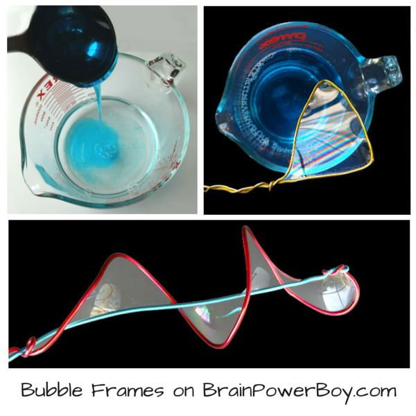 Create a superb bubble solution that lets you make these awesome bubbles in frames. Bubble frames is a wonderful project with beautiful results. Kids will LOVE doing this one!