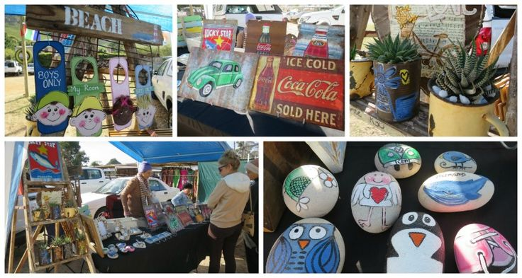 Recycled and upcycled goodies made by Laetitia Hitzeroth at the Hermanus Country Market
