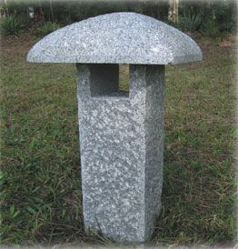 Granite stone lanterns for Japanese gardens, gifts, garden lights, garden ornaments- nice simple granite lantern