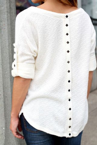 Button Back Sweater - love the back detail! Some of the other ones i've seen just look backwards i like this one