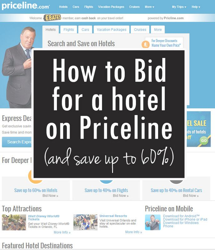 How to Bid for a Hotel on Priceline (great for getting good deals on holiday travel!)