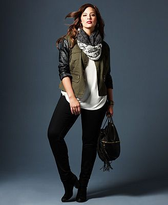 Fall Trend Report Plus Size Jackets Preferred Mixed-Media Look