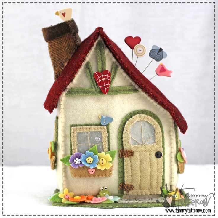 Storybook Cottage Pincushion | Craftsy