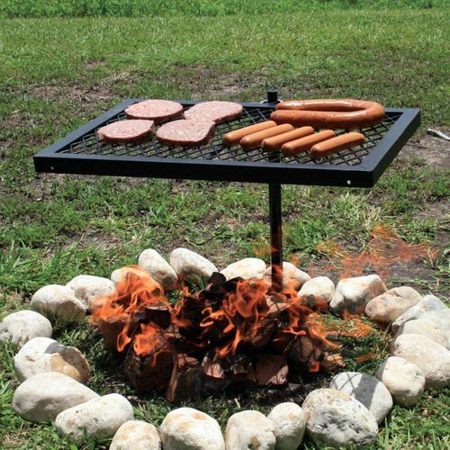 360 Turn Vintage Retro Vintage Cowboy style Camping BBQ Camp Fire Cooking Grill | eBay