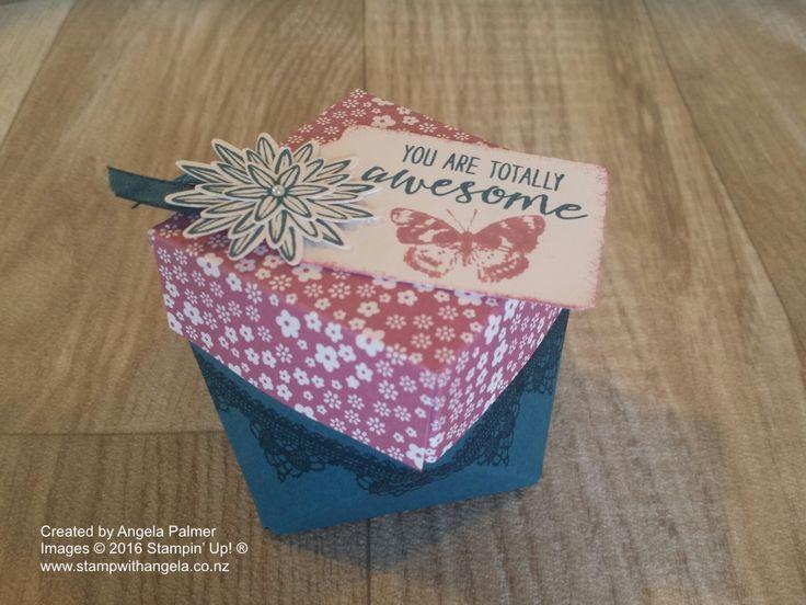 Diamond Shaped Box in Sweet Sugar Plum