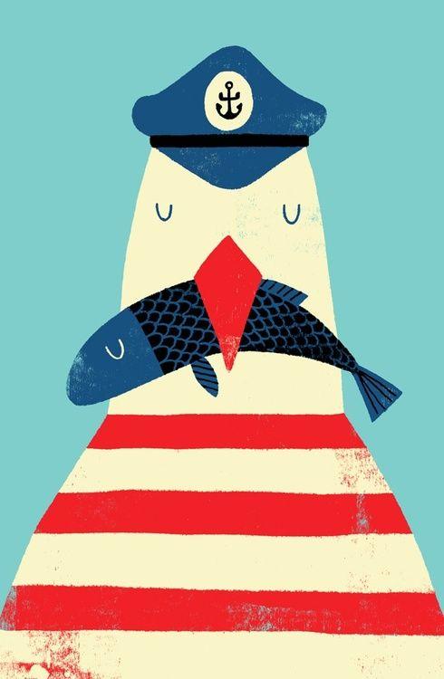 #sailor #nautical #bird