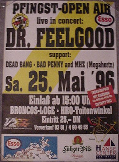 Dr.Feelgood - 25. May 1996 - Broncos Pfingst Open Air, Rostock, Germany