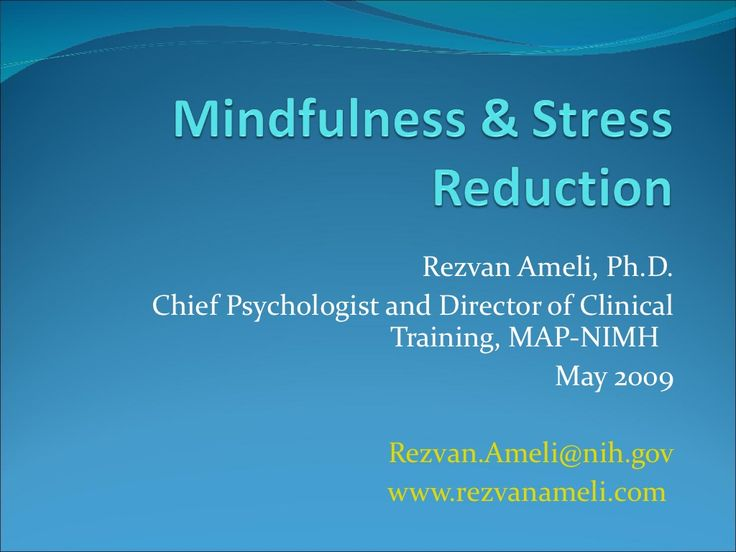 mindfulness-based-stress-reduction via Slideshare