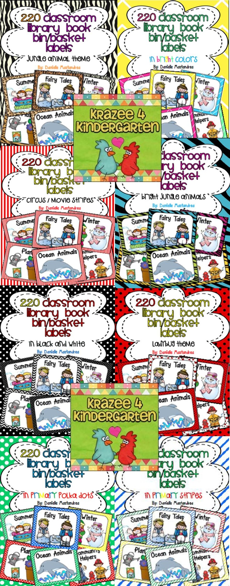 Classroom Library Labels- Great for teaching students how to keep your library neat and organized!