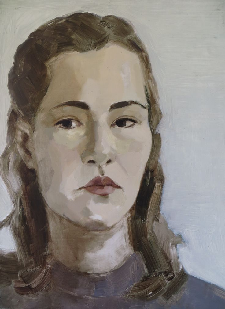 Autorretrato/Self-portrait 2007, óleo sobre madera /oil on wood, 32,4 cm x 43,4 cm Camila Montero