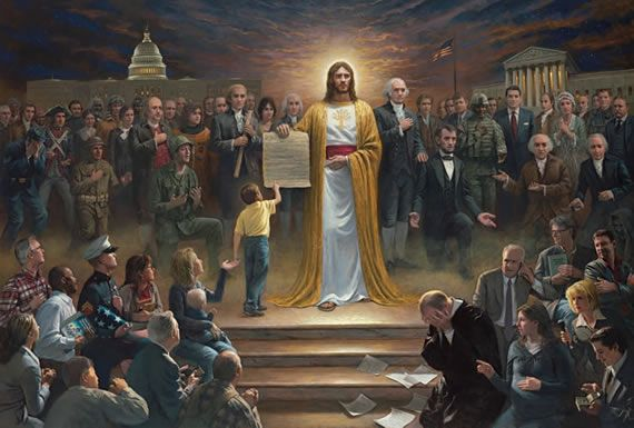 "John McNaughton - One of the most amazing painters of our time! This one is entitled, ""One Nation Under God"""