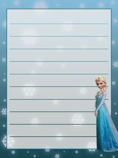 free printable frozen stationery - Google Search
