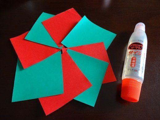 クリスマス 折り紙 折り紙 クリスマスリース : pt.pinterest.com