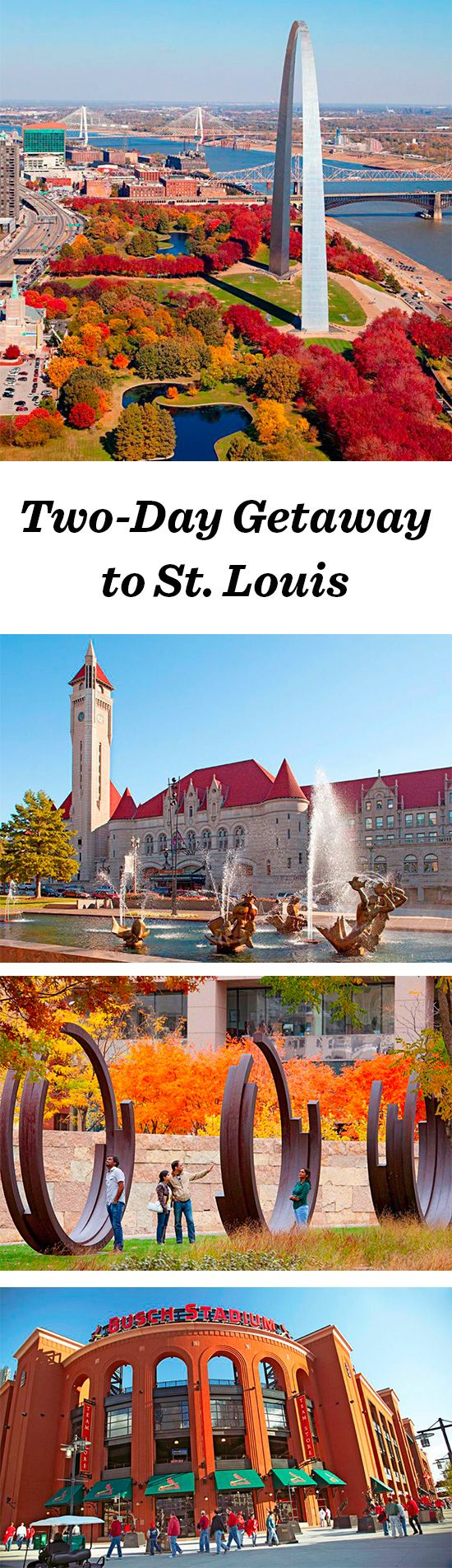 Fall Affair:Talk about a great deal: Gorgeous free museums balance a lively professional sports scene. Pretty parks, the blues, ethnic foods and great breweries await in St. Louis neighborhoods: http://www.midwestliving.com/travel/missouri/st-louis/two-day-getaway-to-st-louis.