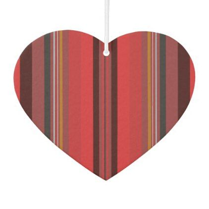 Stripes - Red Horizon Air Freshener - stripes gifts cyo unique style