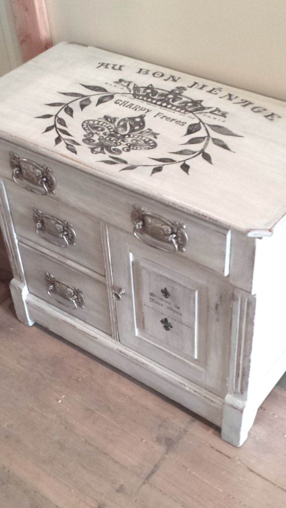French Wash Stand Silver Grey Painted by FilthyRichDesigns on Etsy, $299.00