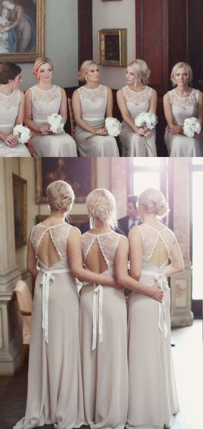 Champagne Bridesmaid Dresses, Long Bridesmaid Dresses, Long Lace Bridesmaid Dresses, Lace Bridesmaid Dresses, Online Bridesmaid Dresses, Lace Bridesmaid Dresses Long, Cheap Bridesmaid Dresses, Cheap Dresses Online, Bridesmaid Dresses Cheap, A-line/Princess Bridesmaid Dresses, Long Champagne Bridesmaid Dresses With Lace Floor-length Round Sale Online