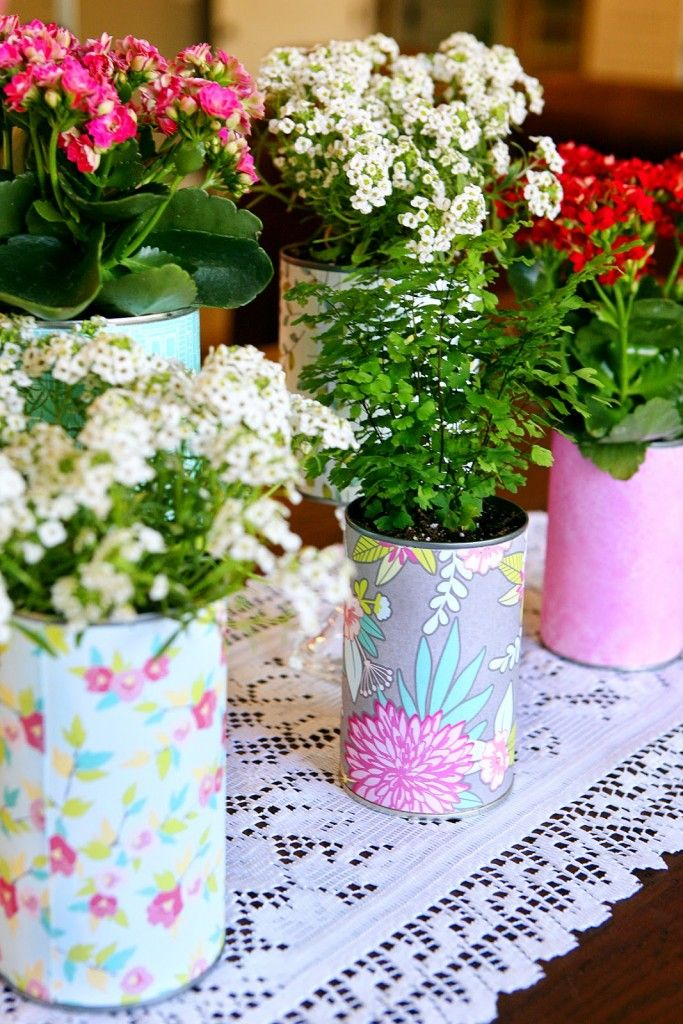 1392 best images about from our blog eighteen25 on for Recycled flower pots