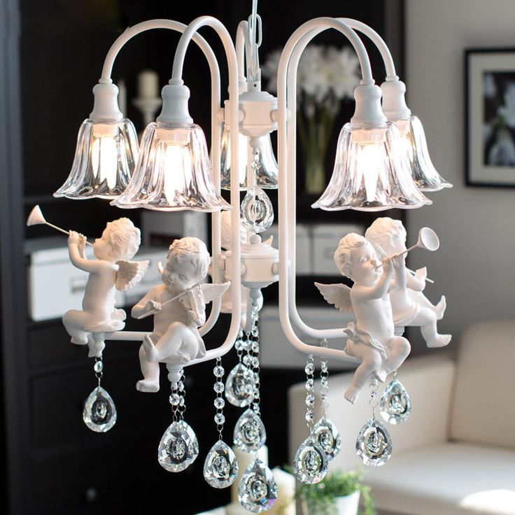 Современные хрустальные Люстры с ангелом для гостиной свет современный лампы lustre освещение led купить на AliExpress