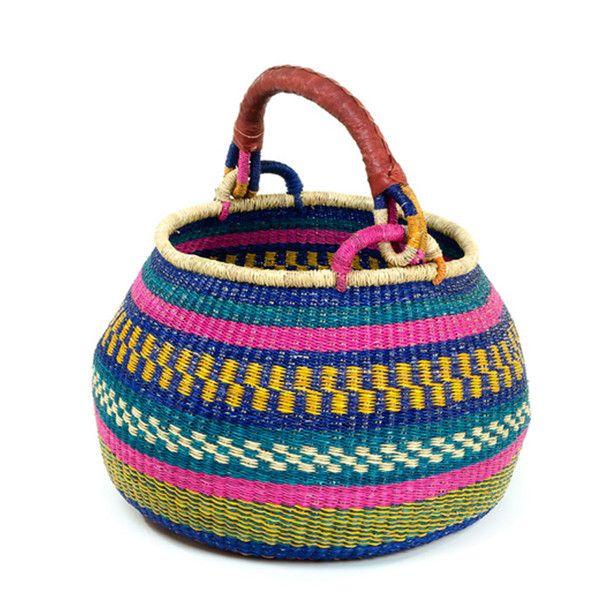 Ghanaian Pear Bottom Bolga Market Basket