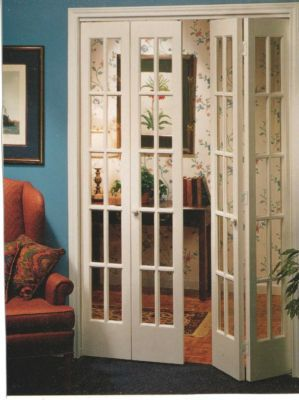 Interior french bifold doors to fit 64x80 opening bifold - Interior bifold doors with glass ...