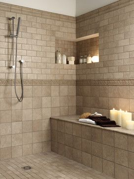 small bathroom tile shower ideas | Florida Tiles Millenia - traditional - bathroom  tile - san