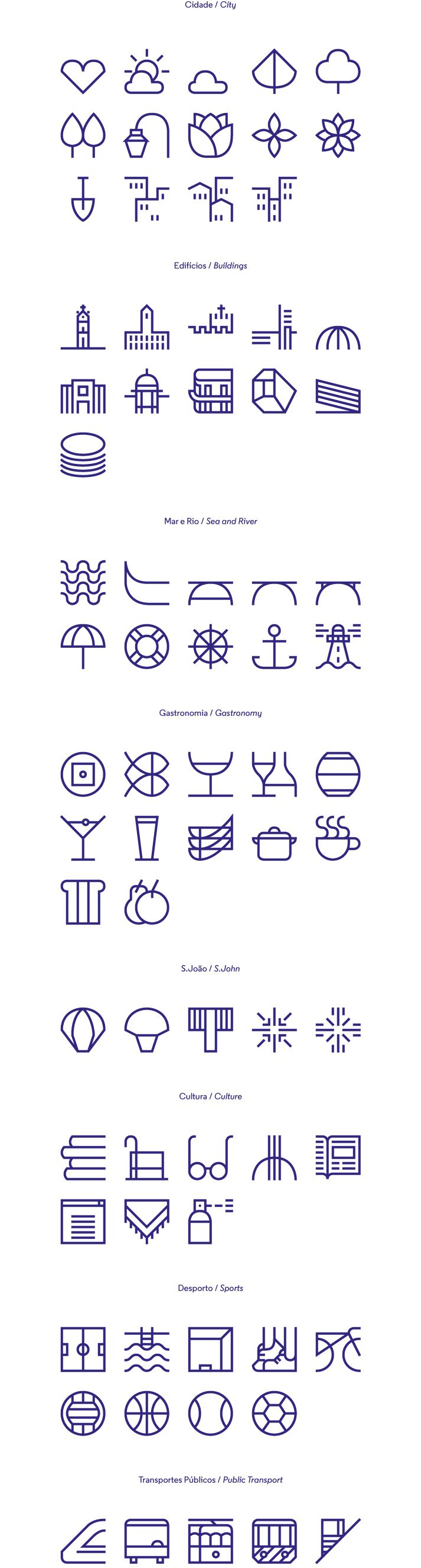 Porto icon set design
