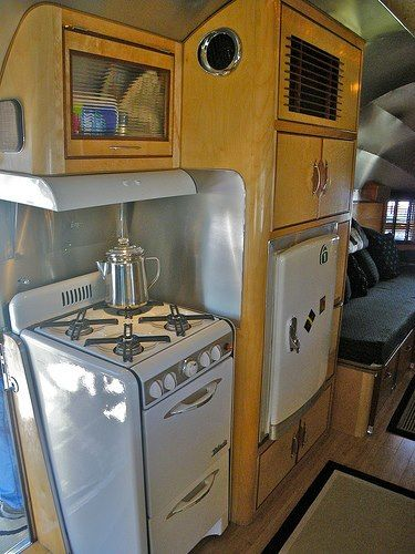 Custom Airstream interior kitchen
